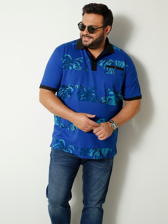 Men Plus Poloshirt van zuiver katoen, Royal blue