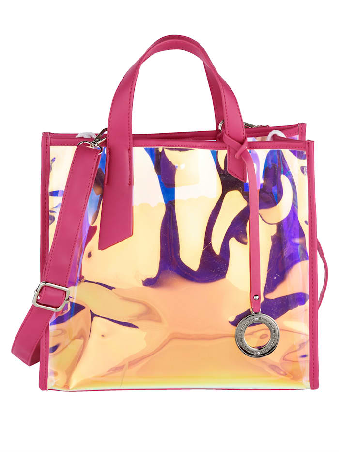 Emma & Kelly Handtasche mit abnehmbarem Emma & Kelly-Anhänger 2-teilig, pink/metallic