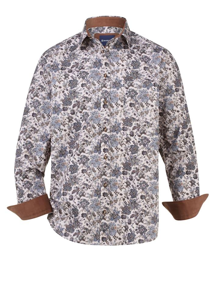 BABISTA Overhemd met modieuze elleboogstukken, Beige/Bruin