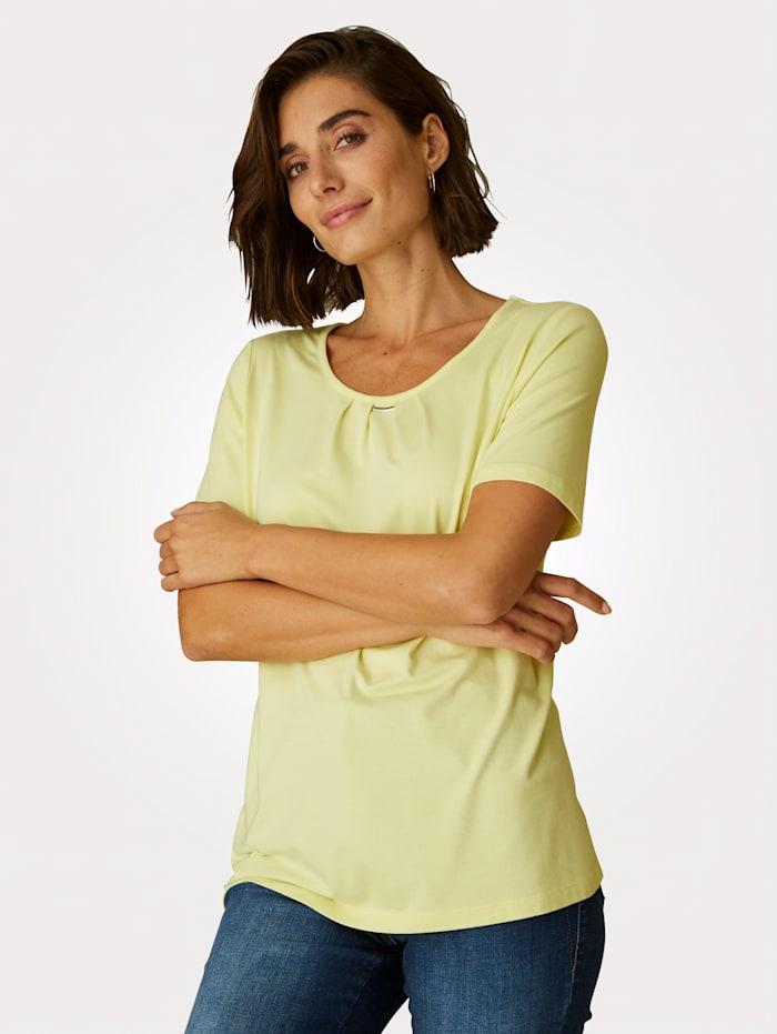MONA T-shirt en fine maille jersey, Jaune
