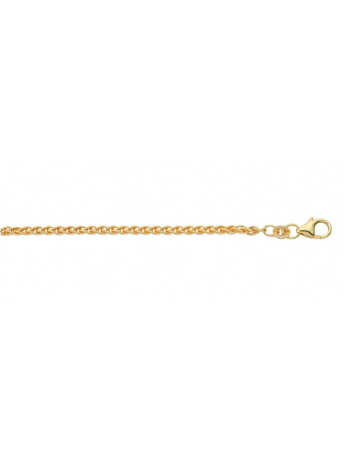 1001 Diamonds Damen Goldschmuck 585 Gold Zopf Halskette Ø 2,1 mm, gold