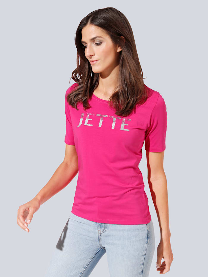 JETTE JOOP T-Shirt mit Strasssteinchen, Pink