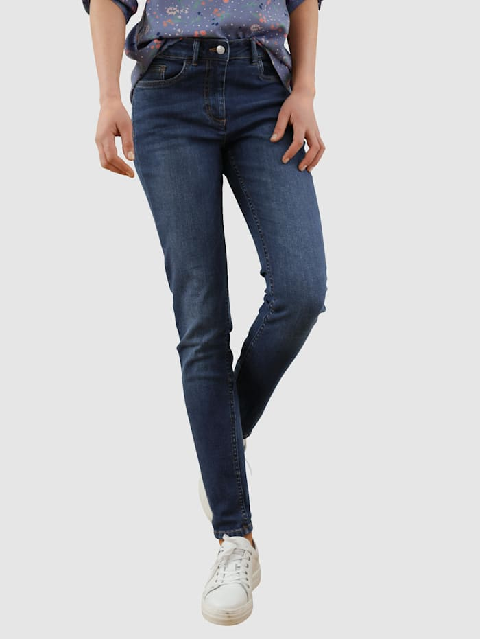 Dress In Jeans mit Knopf zum Verschließen, Dark blue