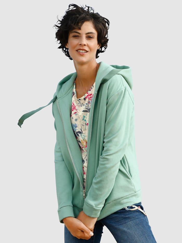 Dress In Sweatjacke in toller Farbgebung, Lindgrün