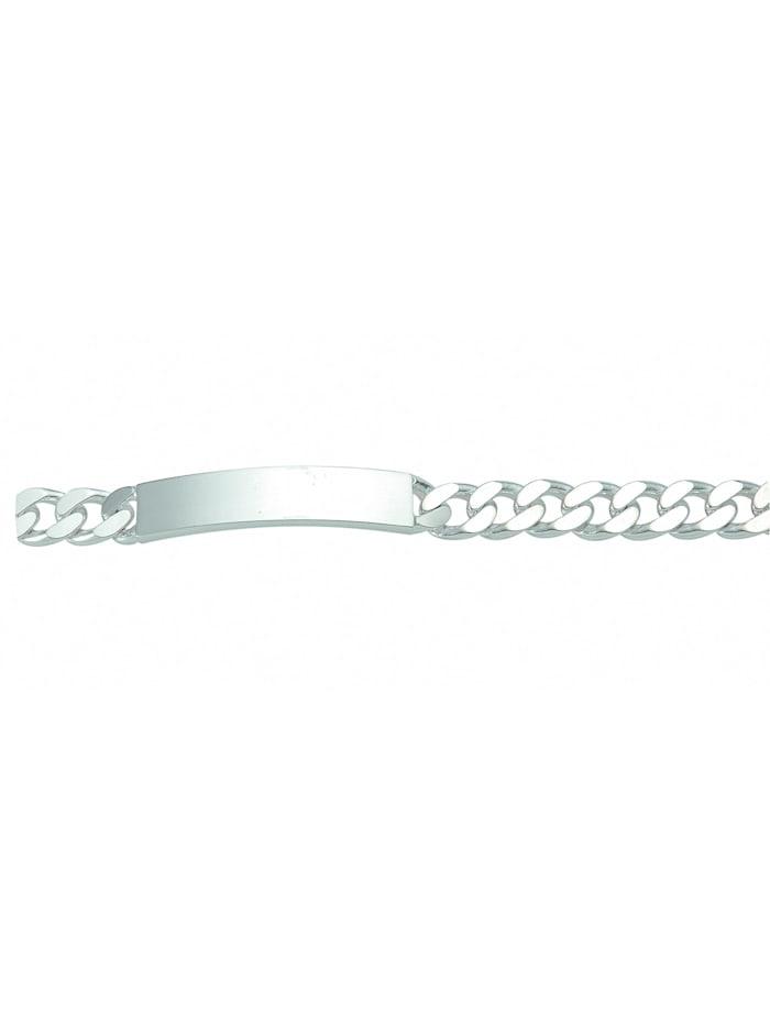 1001 Diamonds Damen Silberschmuck 925 Silber Flach Panzer Armband 23 cm Ø 9 mm, silber