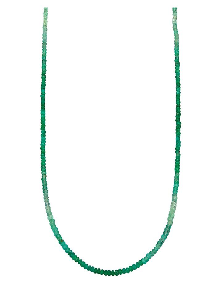 Amara Pierres colorées Collier en émeraudes, Vert