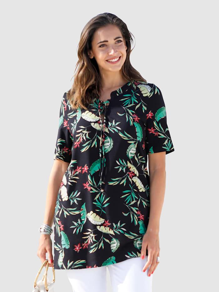 Shirt met jungleprint rondom