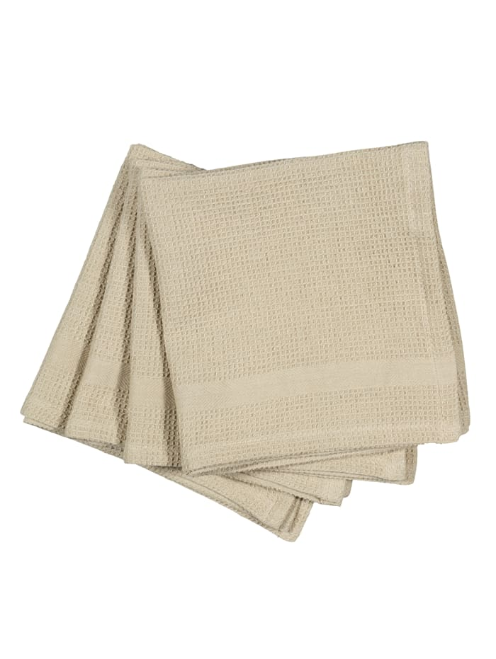 IMPRESSIONEN living Lot de 4 serviettes de table, Beige