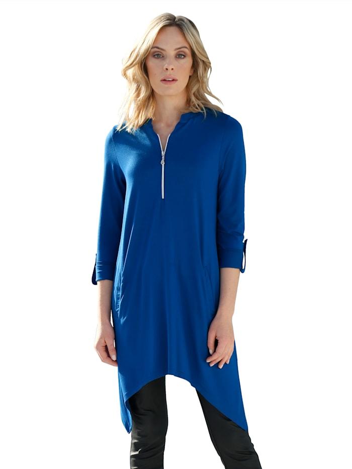 AMY VERMONT Shirt met rits aan de hals, Royal blue