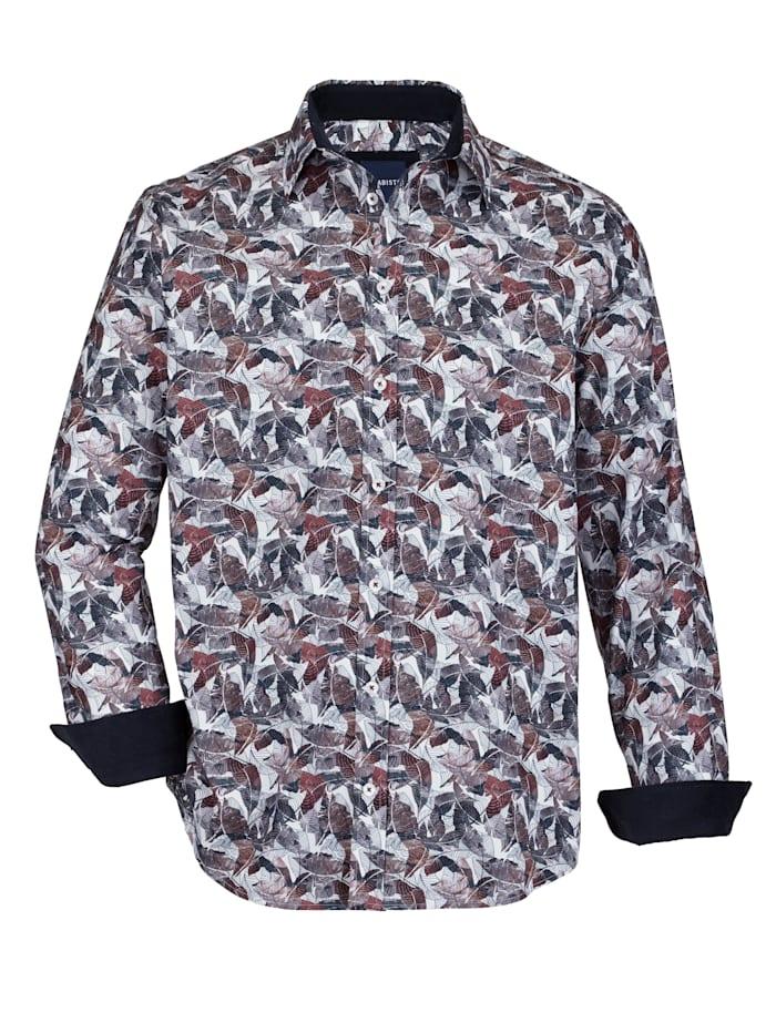 BABISTA Hemd mit angesagtem Druckdessin, Weiß/Marineblau/Rot