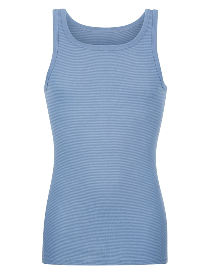 Ammann Achselhemd mit verlängertem Rückenteil, Hellblau
