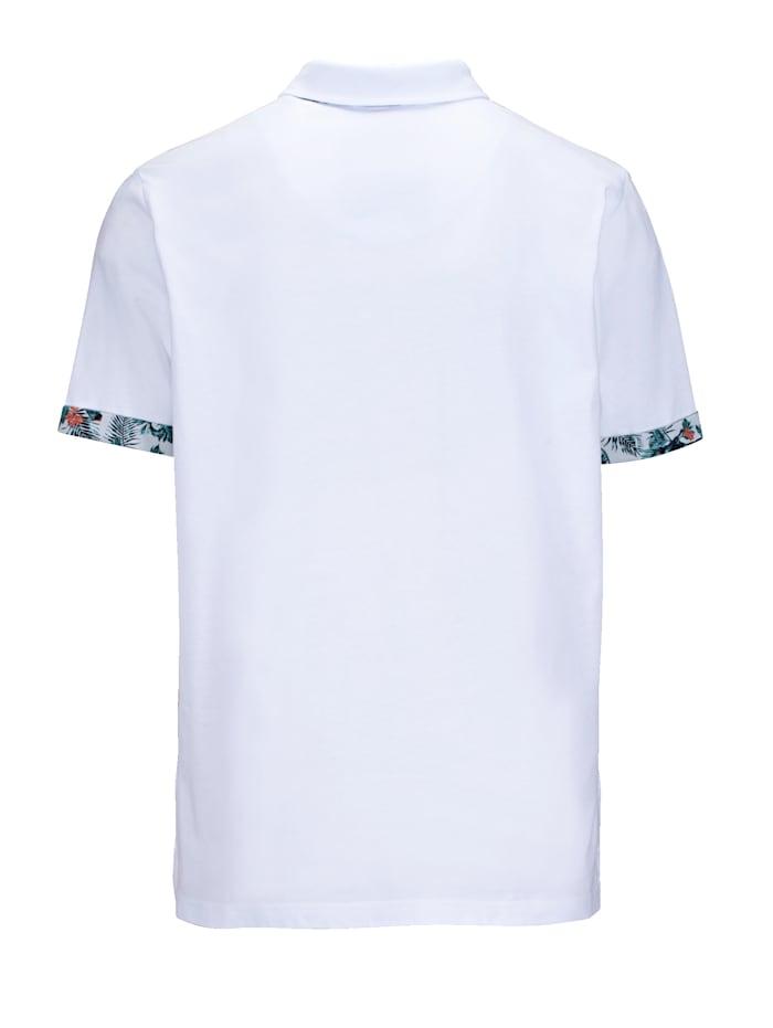 Poloshirt met gebloemde details