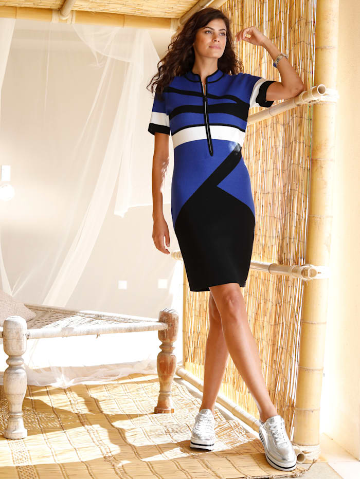 Gebreide jurk met grafisch patroon
