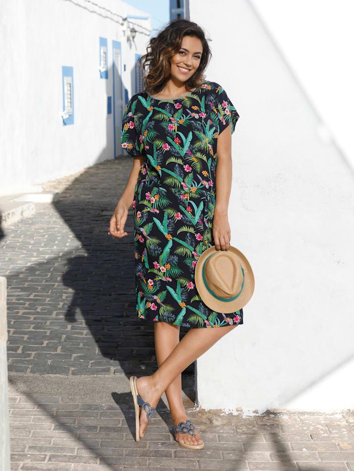MIAMODA Kleid mit farbenfrohem Dschungeldruck, Multicolor