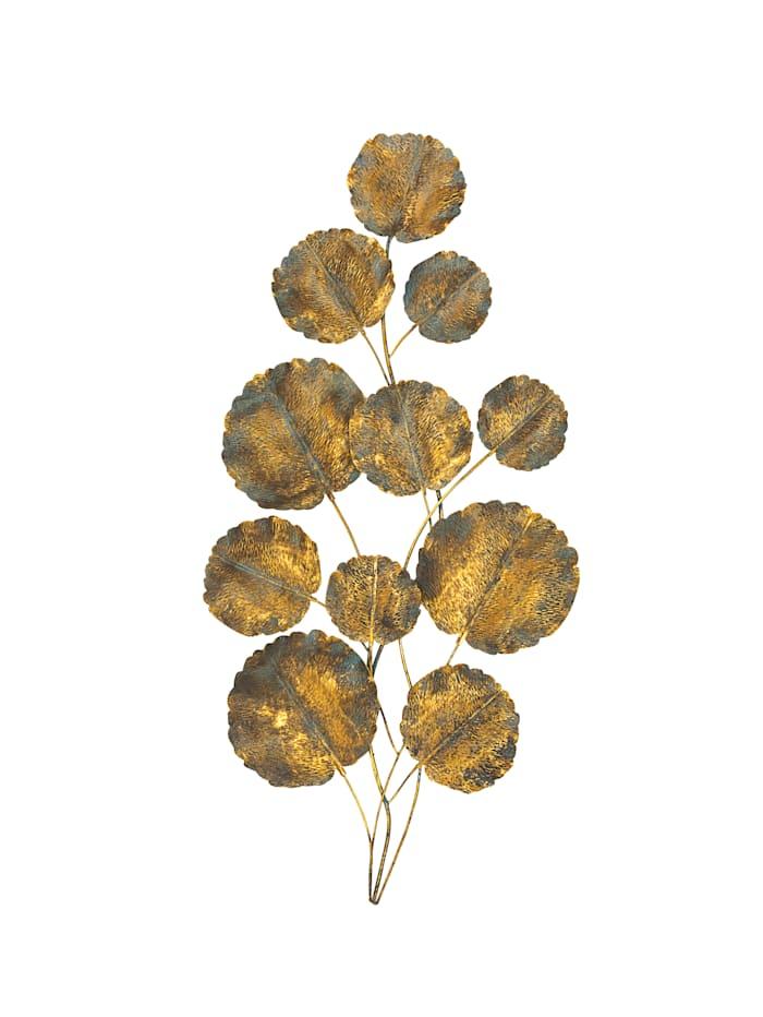 Boltze Wand-Deko, Blätter, Kupferfarben