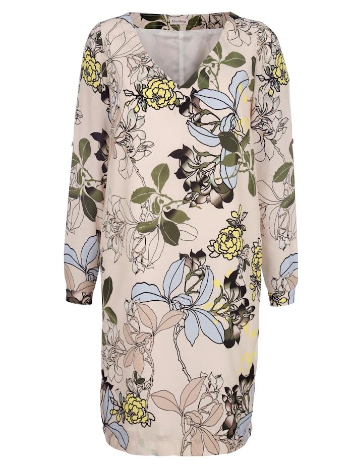 Kleid mit floralem Dessin