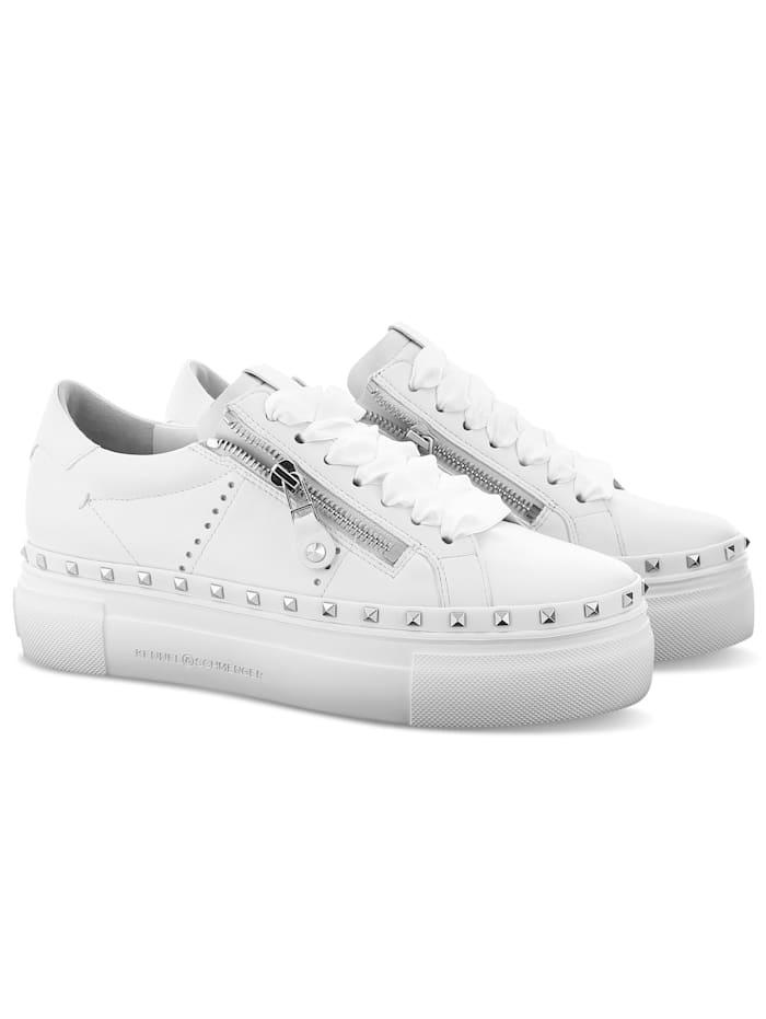 Kennel & Schmenger Sneaker mit breiter Plateausohle, Weiß
