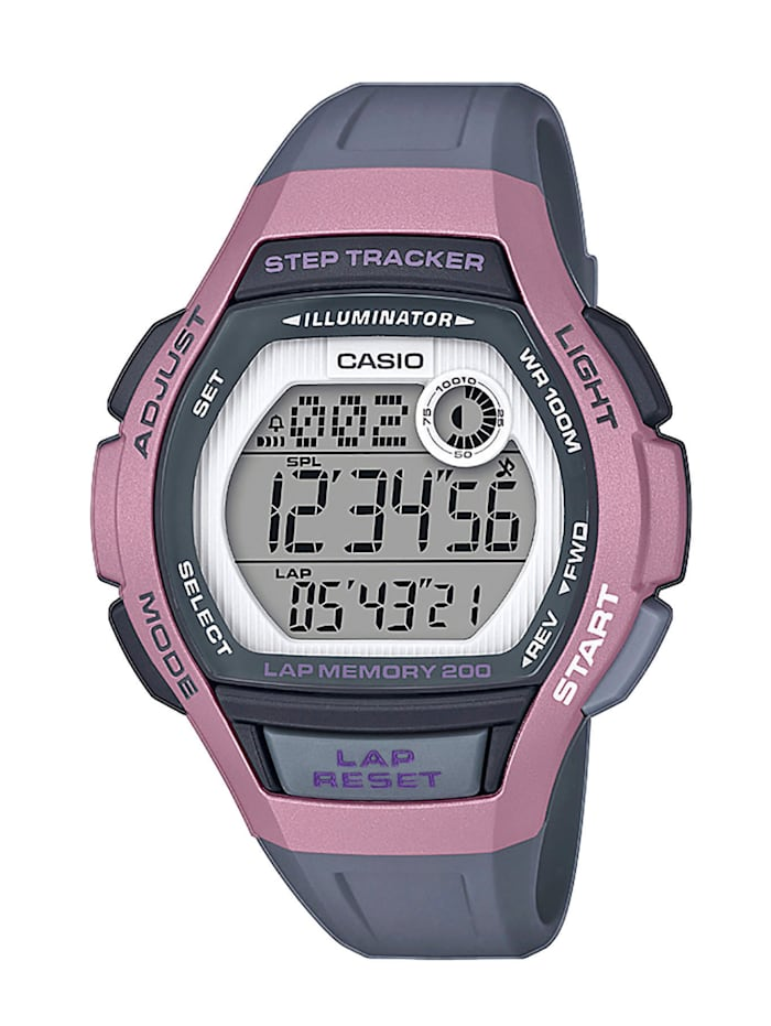 Casio Damenuhr -Chronograph LWS-2000H-4AVEF, Grau