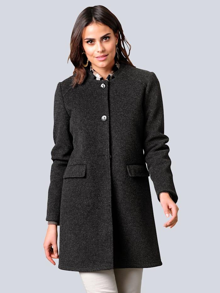 Alba Moda Fleece-Jacke in äußerst trageangenehmer Qualität, Anthrazit