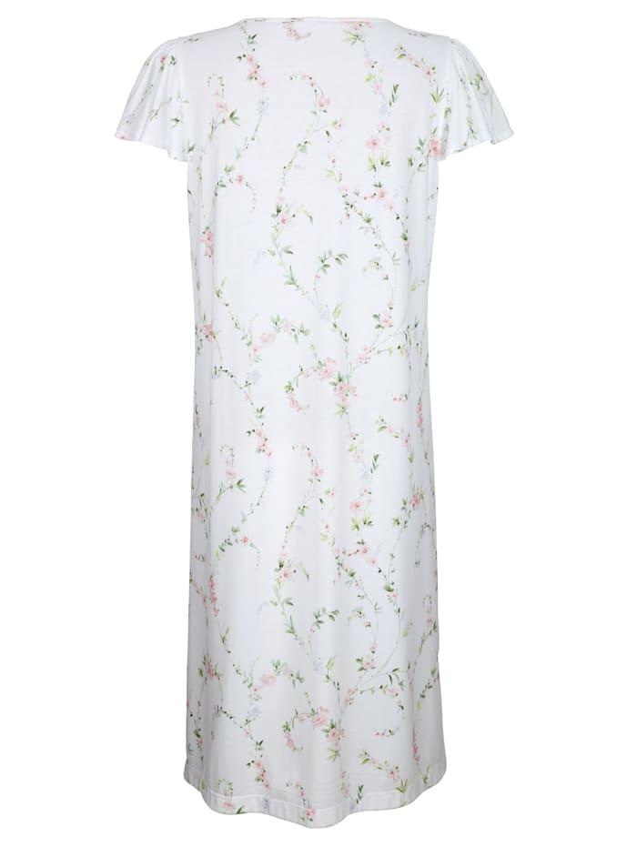 Chemise de nuit avec détails raffinés en dentelle