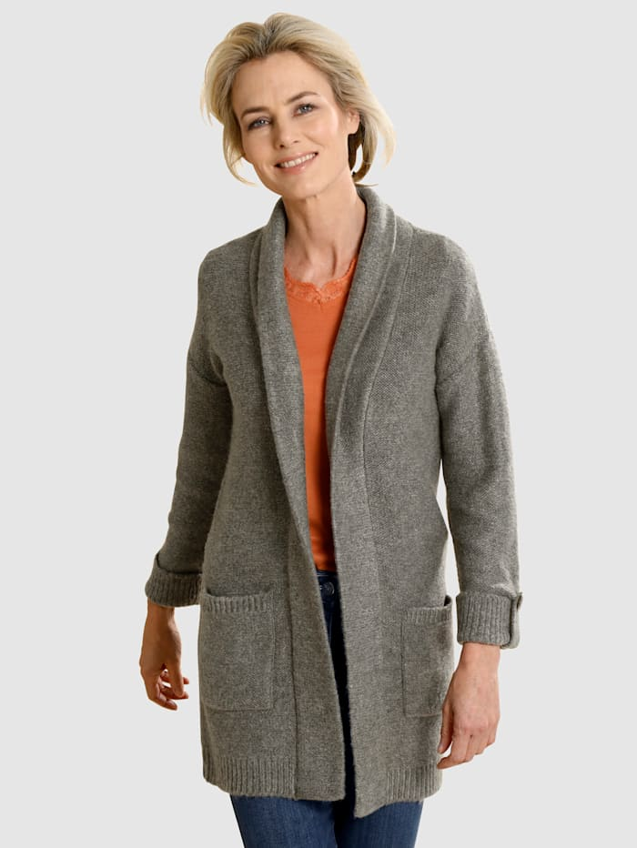 Dress In Strickjacke in offener Form, Taupe