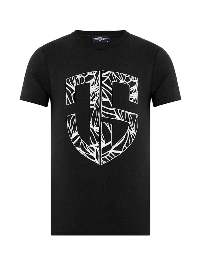 Jimmy Sanders T-Shirt Walter mit Rundhalsausschnitt, black