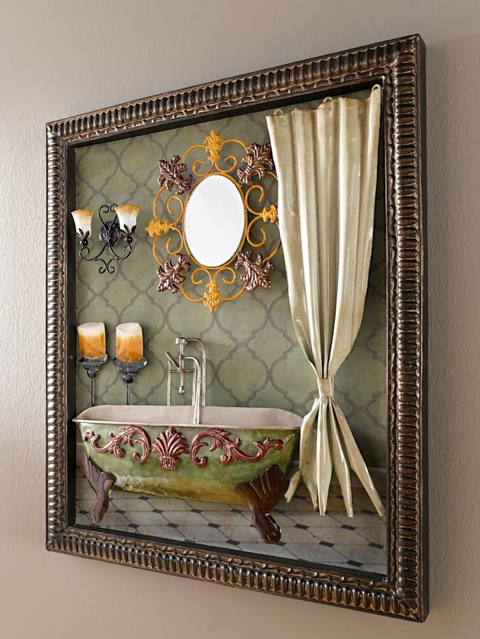 Metallinen kuva Kylpyhuone 3D