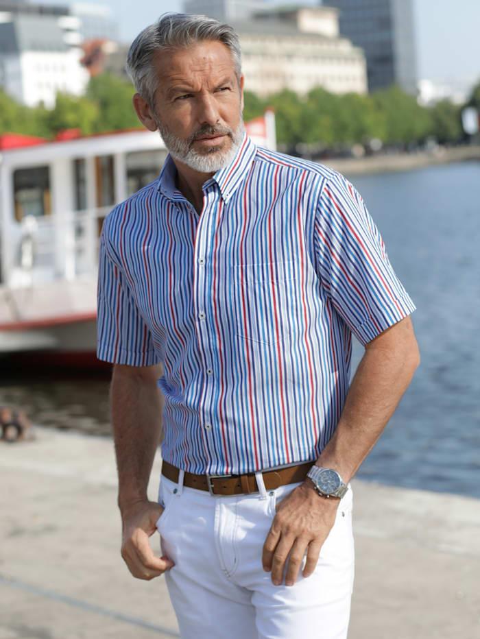 BABISTA Overhemd met ingebreid streepdessin, Wit/Blauw/Rood