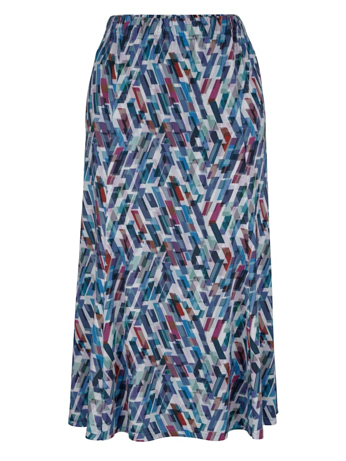 Skirt with a striking print