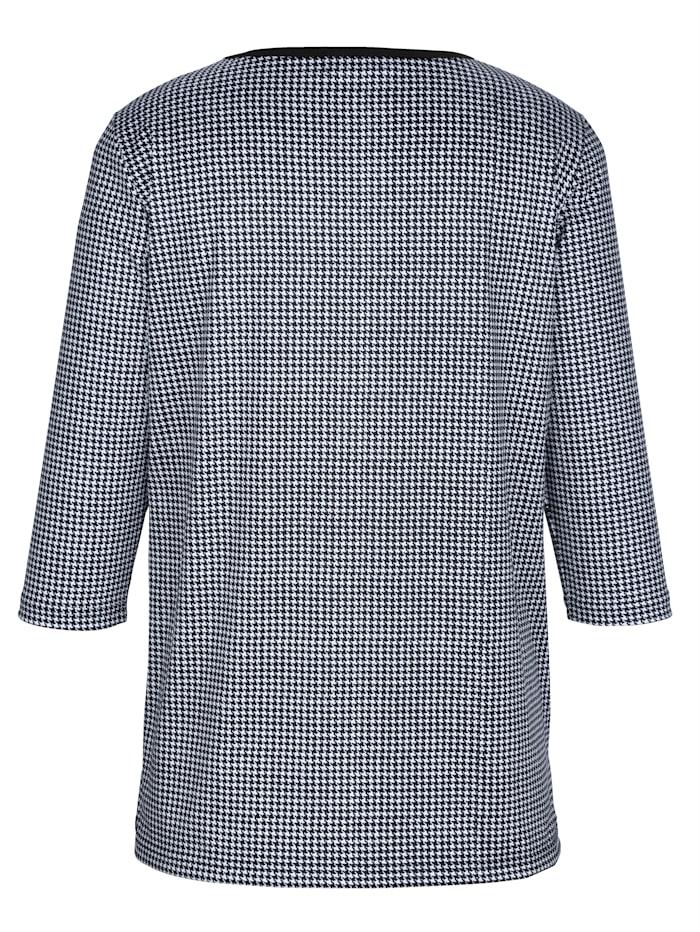 Shirt mit Pepita-Druckmuster rundum