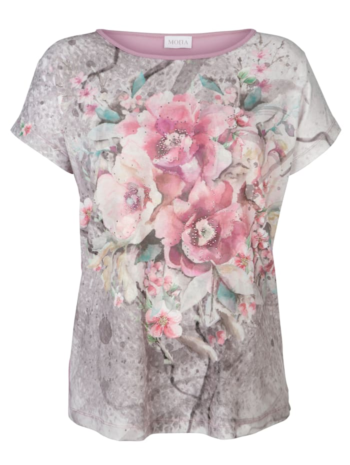 Top in a chic fabric mix
