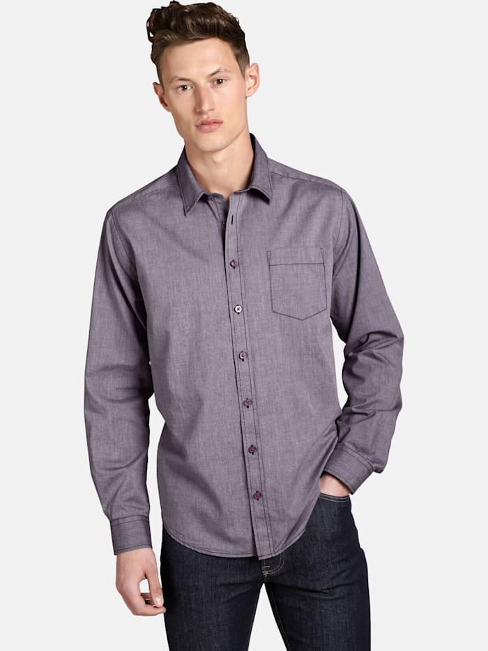 Shirtmaster Shirtmaster Hemd purplefall, rot