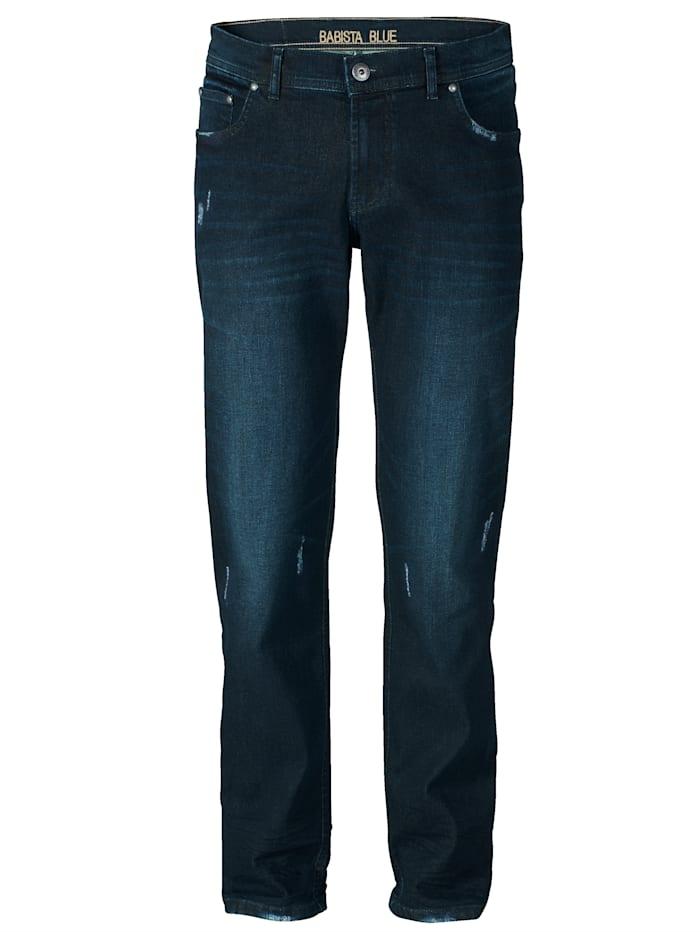 BABISTA Jeans met destroyed effecten, Donkerblauw