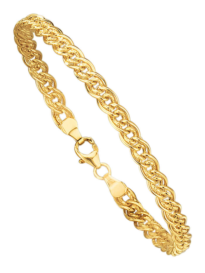 Bracelet maille gourmette en or jaune