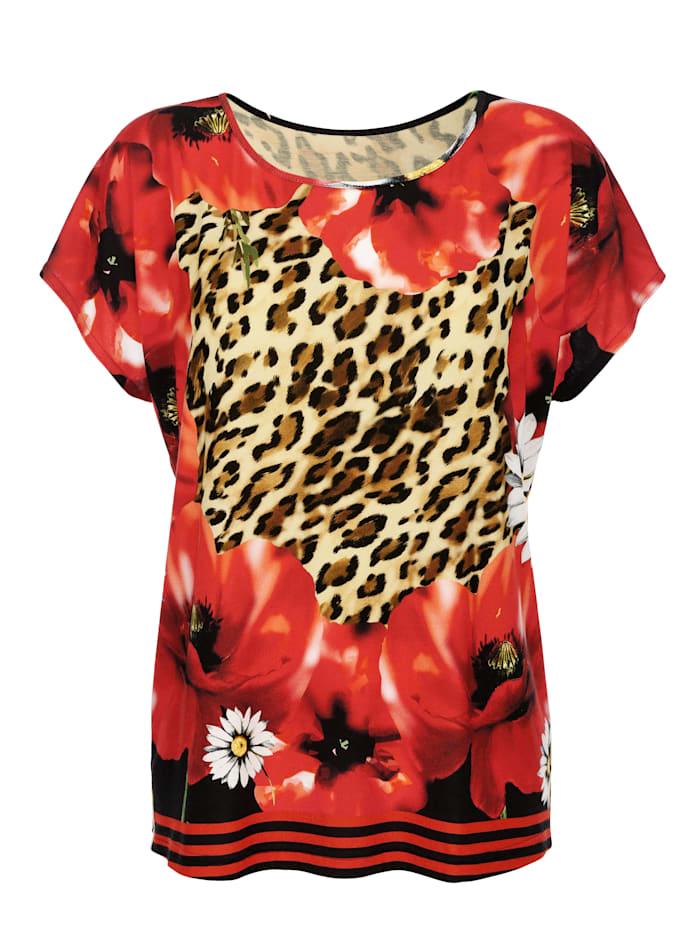 T-shirt de plage à motif animal et floral