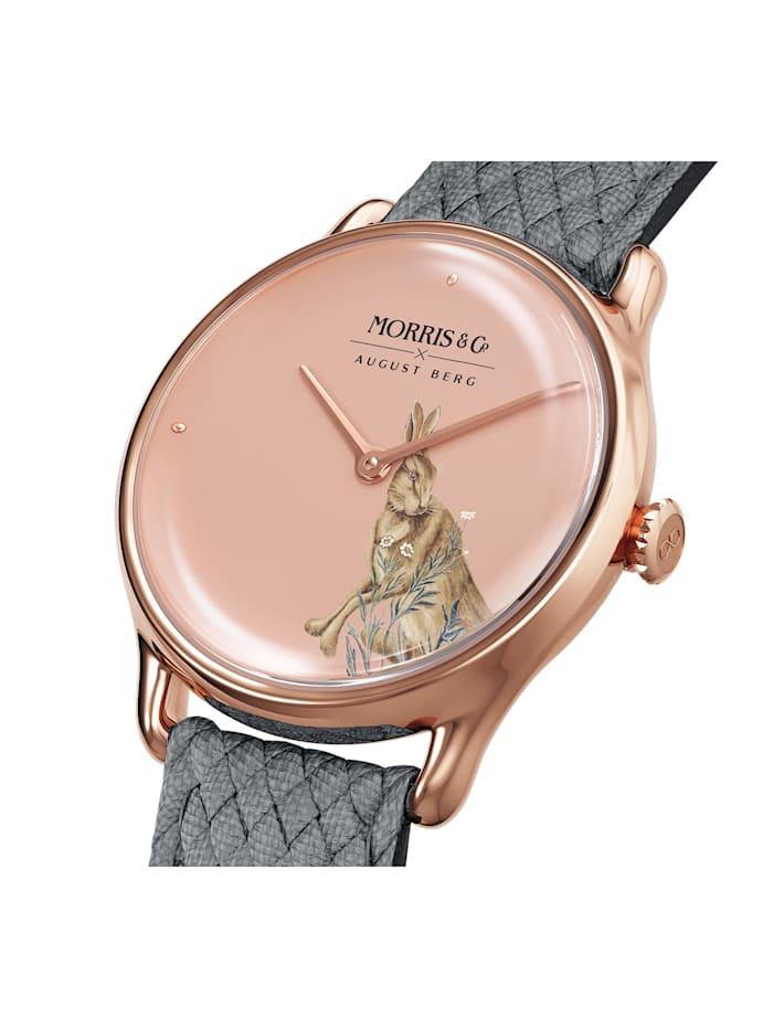 Uhr MORRIS & CO Rose Gold Grey Perlon 30mm