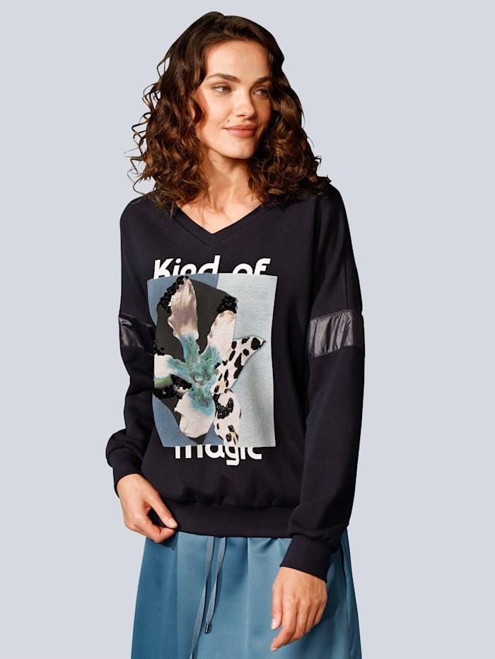 MARGITTES Sweatshirt mit tollem Motiv, Marineblau