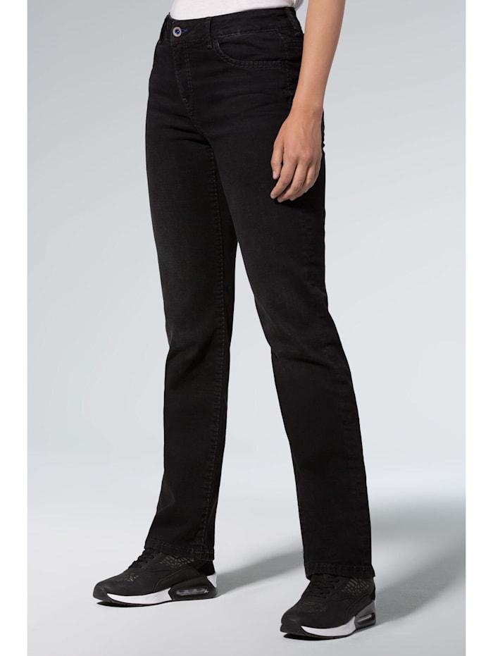 SOCCX Comfort Shape Jeans EL:KE mit geradem Bein, black