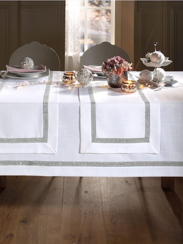 "Webschatz Linge de table ""Ruth"", Blanc"