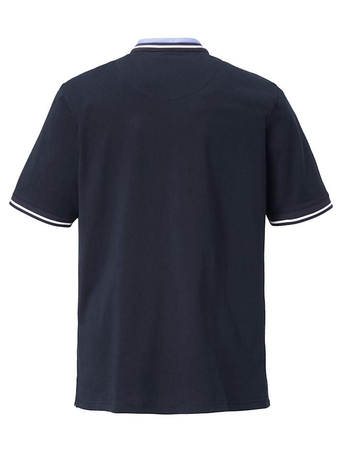 T-shirt met modieuze opstaande kraag