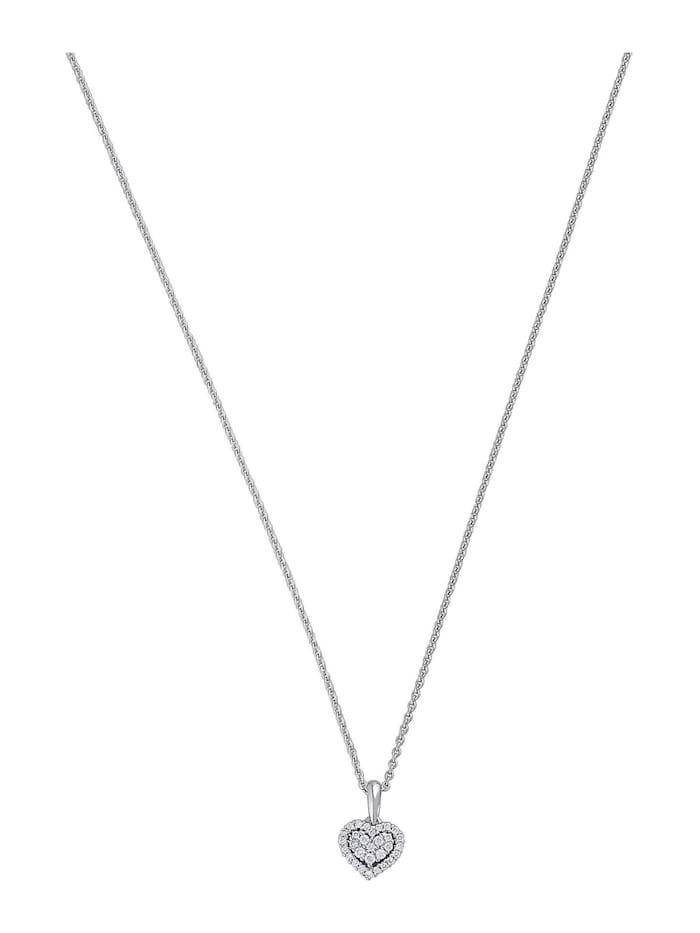 CHRIST Diamonds Damen-Kette 585er Weißgold 30 Brillanten