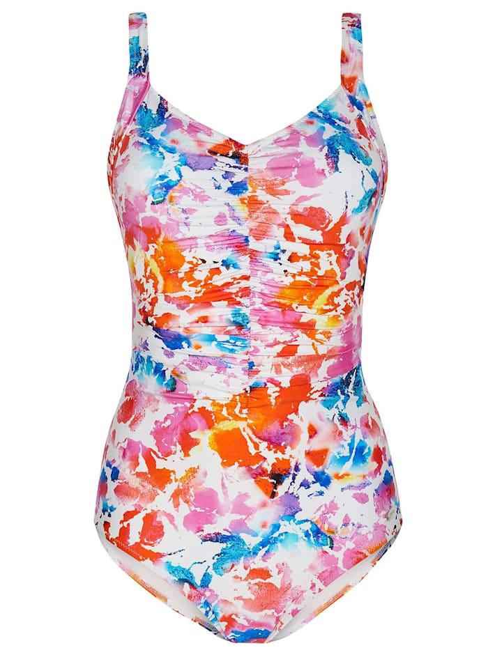 Susa Prothesen Badeanzug Care Colour Splash, weiß-bedruckt