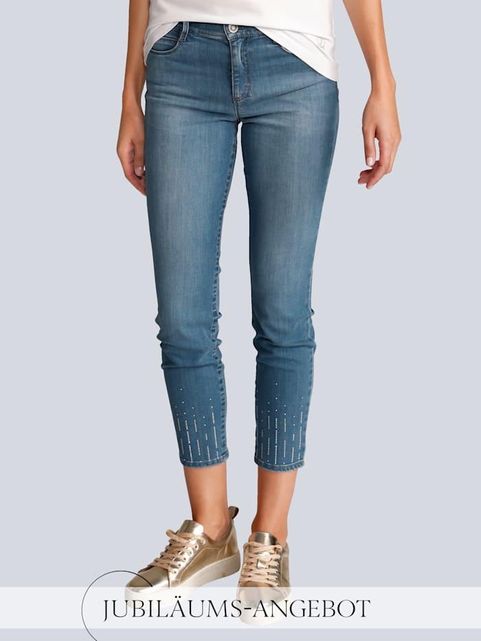 BRAX Jeans 'Ava S' im Alba Moda Exklusiv-Dessin, Light blue