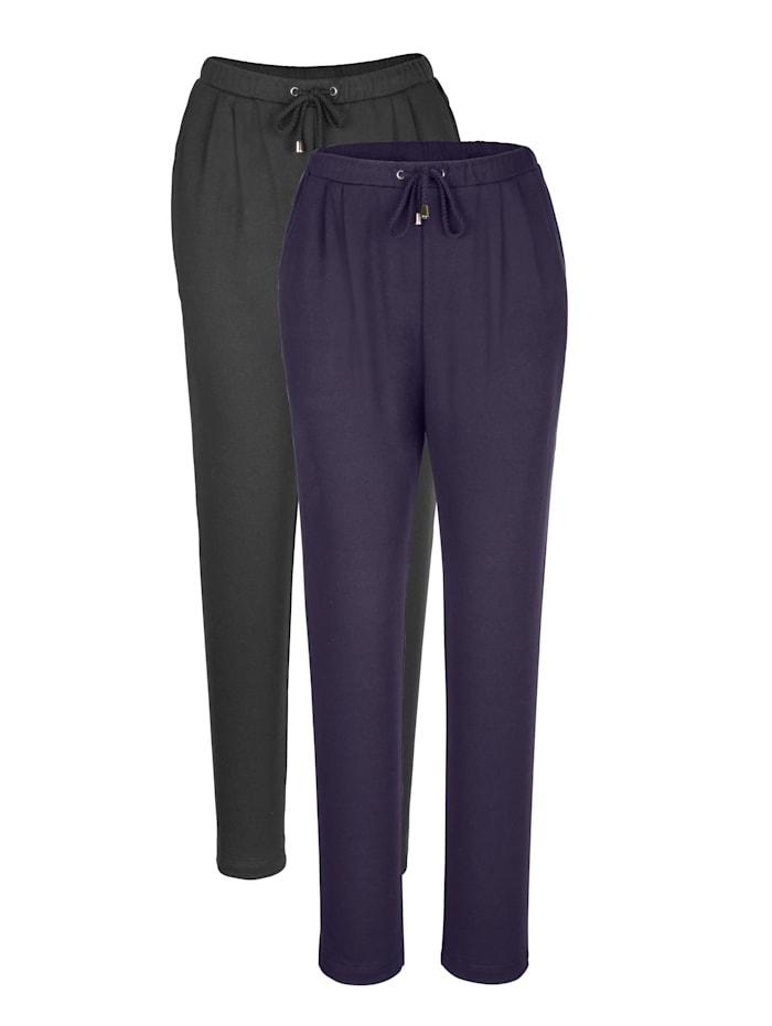 Harmony Leisure Trousers, Navy/Black