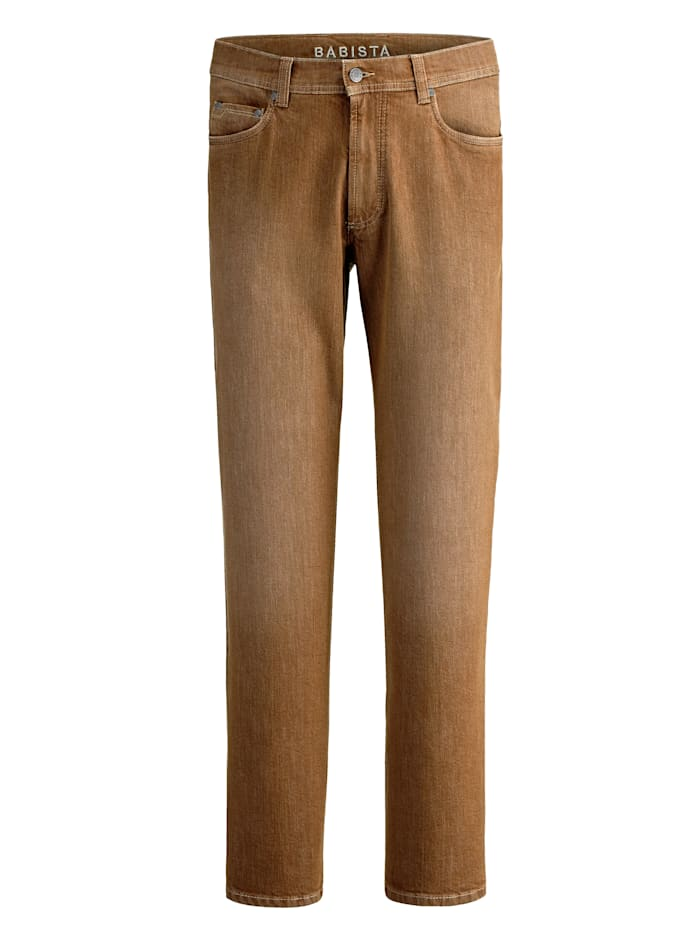BABISTA Jeans in used look, Camel