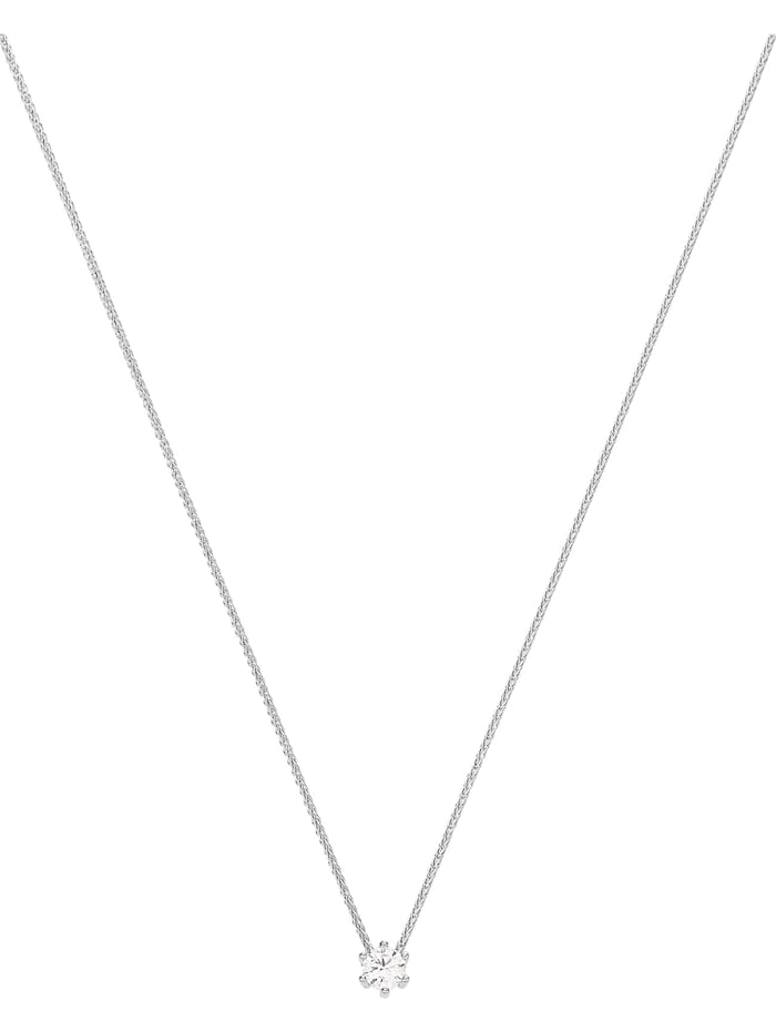 CHRIST C-Collection CHRIST Damen-Kette 585er Weißgold 1 Diamant, weiß