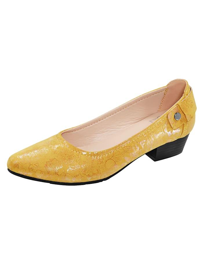 Liva Loop Lodičky v elegantnom tvare, Žltá