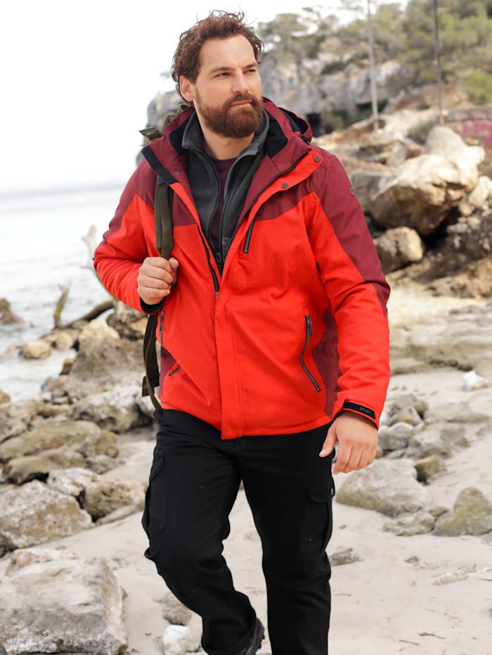 Killtec Funktionsjacke atmungsaktiv, wind- und wasserabweisend, Rot