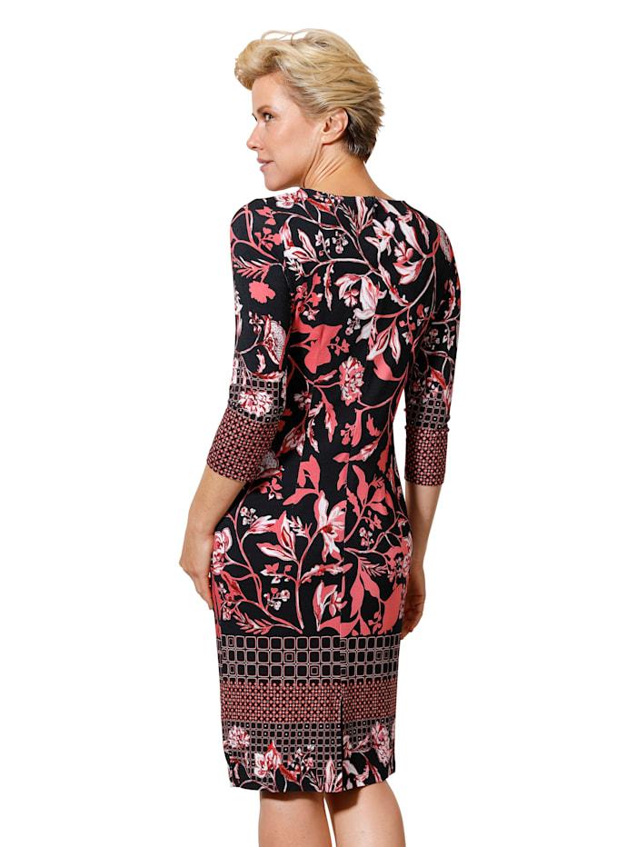 Robe en jersey à motif floral de coloris harmonieux