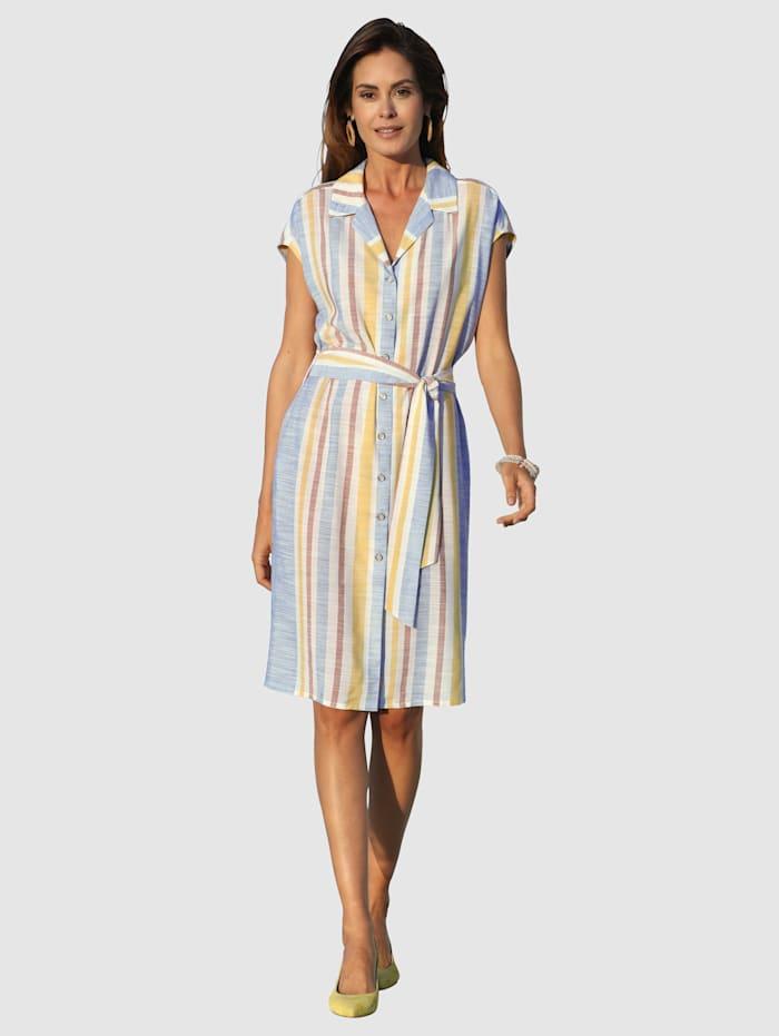 Laura Kent Kleid in Streifendessin, Hellblau